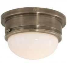 Visual Comfort SL 4001AN-WG - Marine Medium Flush Mount in Antique Nickel with