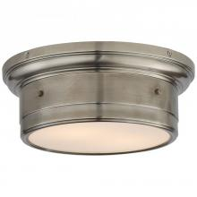 Visual Comfort SS 4015AN-WG - Siena Small Flush Mount in Antique Nickel with W